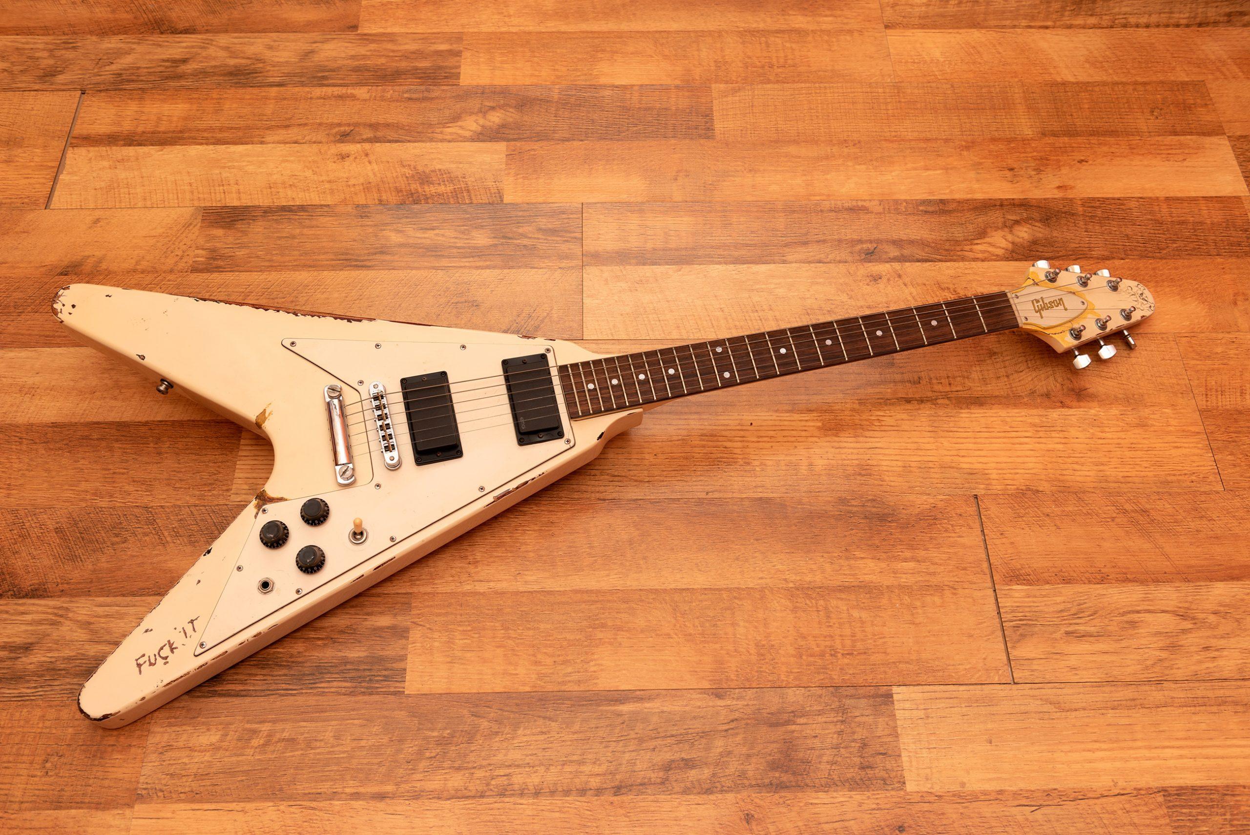 James Hetfield's white Electra Kill 'Em All Flying V